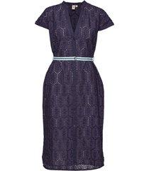 anglaise casey long shirt jurk knielengte blauw becksöndergaard