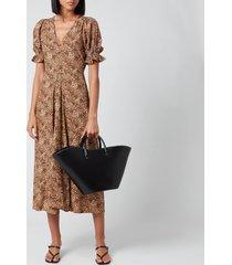faithfull the brand women's maggie midi dress - charlie leopard - s
