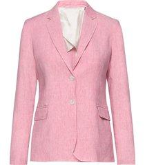 d2. stretch linen regular blazer blazer kavaj rosa gant