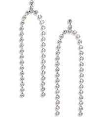 women's cristabelle crystal double row drop earrings