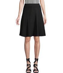 walter baker women's ariana a-line skirt - black sparkle - size xs