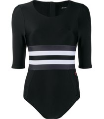perfect moment short-sleeved swimsuit - black