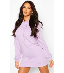 hooded sweat dress, lilac