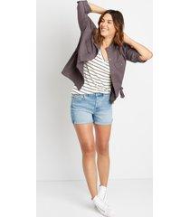 maurices womens gray cinch waist jacket