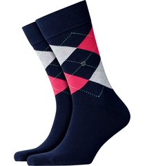 burlington king socks - navy/pink - 21020-6127