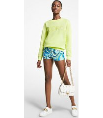 mk shorts in cotone con stampa - brt limeade - michael kors