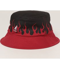 vision of super hat vision of super x kangol fisherman hat with flames