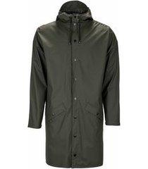 rains regenjas long jacket green-xs / s