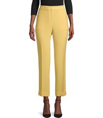 lafayette 148 new york women's clinton finesse crepe cuffed pants - cloud - size 12
