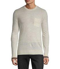 crewneck wool & linen-blend sweater