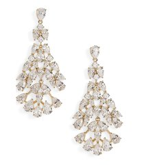 women's nadri chloe cubic zirconia chandelier earrings