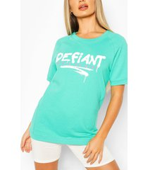 defiant oversized sweat top, green