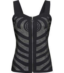 top con strass (nero) - bodyflirt boutique