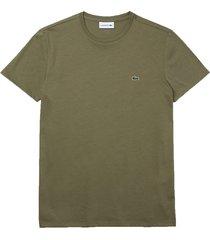 lacoste t-shirt olijf regular fit th6709/316