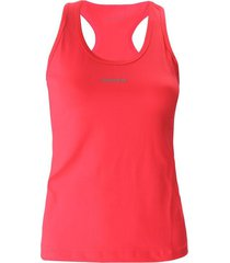 camiseta básica, con aplique reflectivo color fucsia para mujer