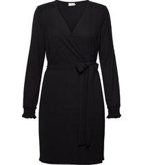 blake wrap dress kort klänning svart kaffe