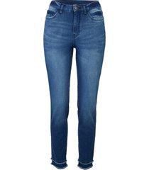 jeans elasticizzati morbidi cropped (blu) - john baner jeanswear
