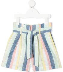 bonpoint wide stripes shorts - yellow