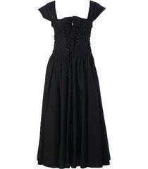 philosophy di lorenzo serafini lace front pleated dress