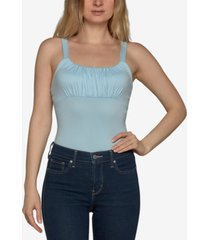 just polly ruched sleeveless bodysuit