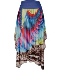 kjol som kan bäras på flera sätt sunflair flerfärgad