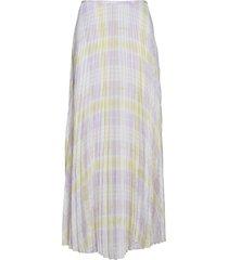 juliette l skirt aop 10798 lång kjol rosa samsøe samsøe