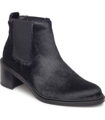 town chelsea pony shoes boots ankle boots ankle boot - heel svart royal republiq