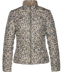 giacca trapuntata reversibile con poliestere riciclato (marrone) - bpc selection premium