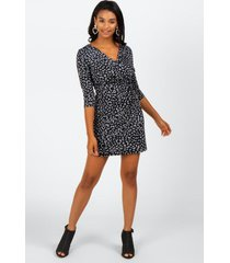 nema animal print dress - heather gray
