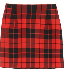 alessandra rich check wool mini skirt
