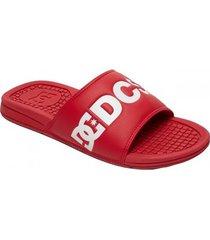 teenslippers dc shoes palas rojas dc slide adyl100043