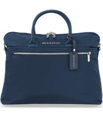 men's briggs & riley slim business briefcase - blue