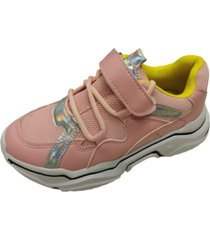 zapatillas rosa velcro vinnys outlet