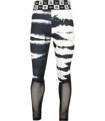 river island girls ri x hype black tie dye panel leggings