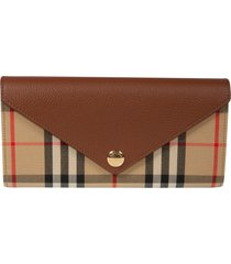 burberry envelope button snap lock continental wallet
