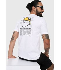camiseta blanco-amarillo-negro oakley heritage eyeshade tee