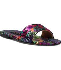 henra, 1193 satin shoes shoes summer shoes flat sandals multi/mönstrad stine goya