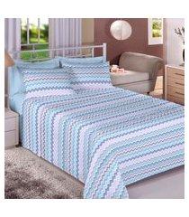 jogo de cama 140 fios queen 100% algodão jandir - bene casa