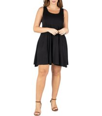 24seven comfort apparel women's plus size fit and flare tank dress