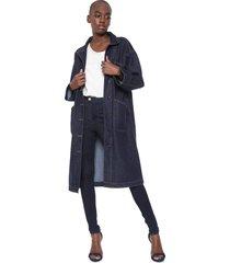 casaco sobretudo jeans colcci eco soul azul - kanui