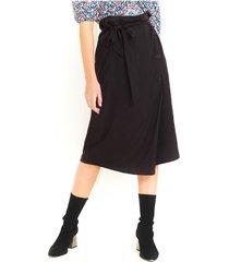 falda midi color negro, abertura y bolsillos laterales, tiro alto color-negro-talla-8