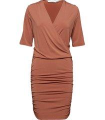 halliegz dress noos knälång klänning orange gestuz