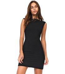 vestido forum curto ajustado preto - preto - feminino - viscose - dafiti