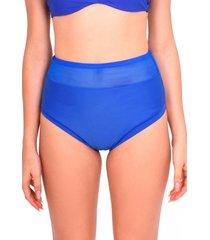 bikini calzón pin up con transparencia azul samia