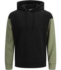 jack & jones men's borg crewneck hoodie