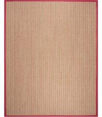 safavieh natural fiber brown and red 8' x 10' sisal weave rug