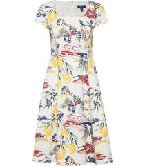 d2. riviera view print dress jurk knielengte multi/patroon gant