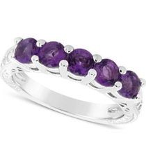 amethyst (1-1/4 ct. t.w.) ring in sterling silver (also available in other birthstones)
