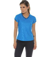 camiseta básica, color turquesa para mujer