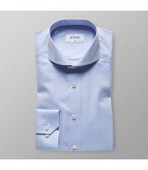 eton heren overhemd licht herringbone cutaway slim fit